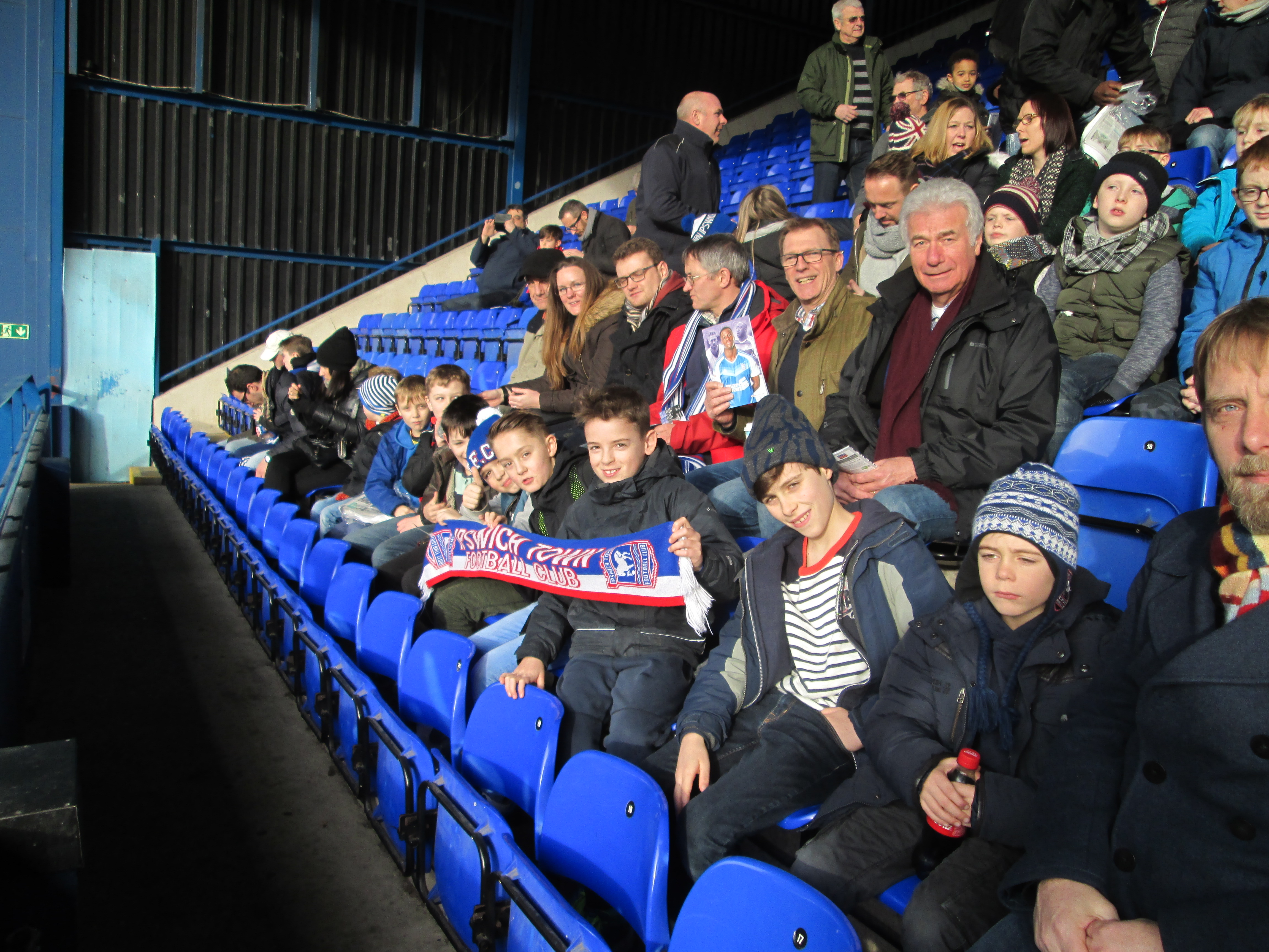 Group visit to Ipswich Town Football Club 2017