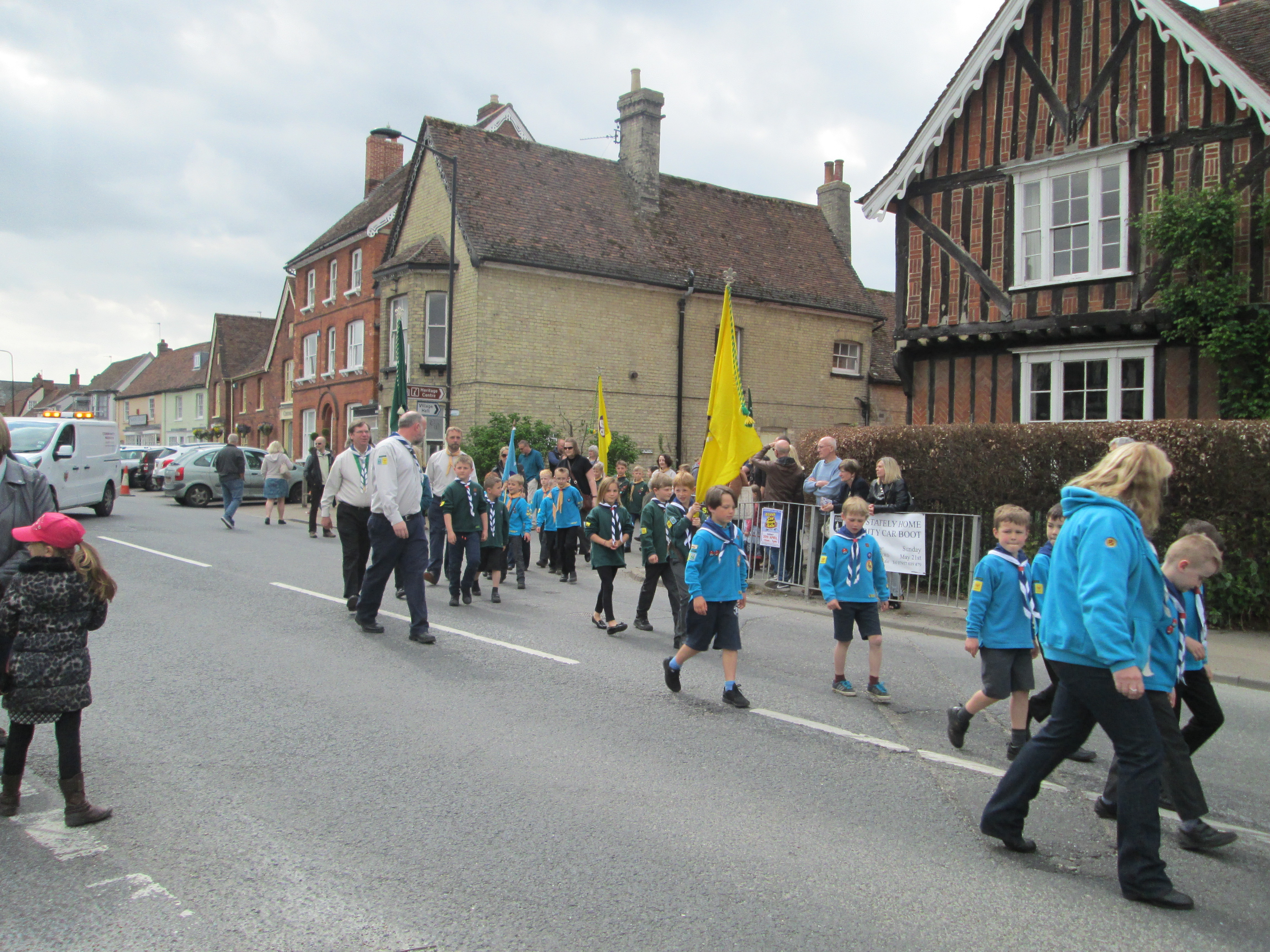 St George's Parade & Service, Long Melford – April 2017